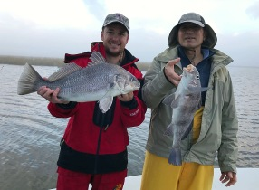 Black Drum with Dr. Keith Wing for his visit as an Honorary Lecturer