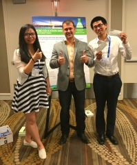 American Chemical Society Meeting, Rui Chen (left) and Zhilin Li (Right) Zhilin won first place in the student competition