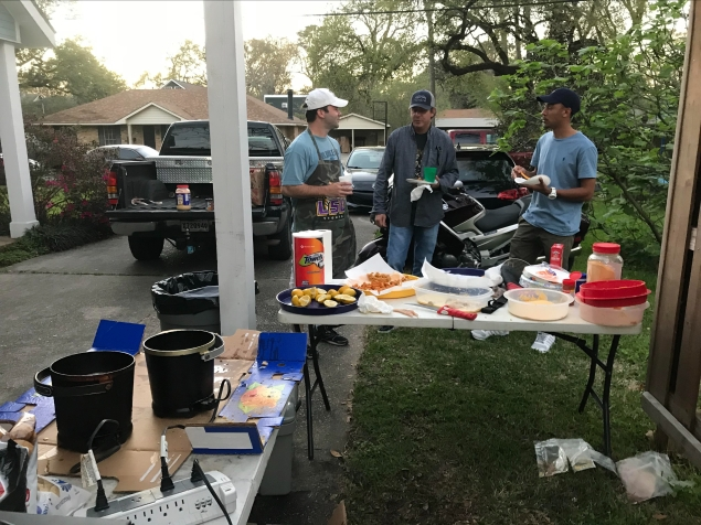 Start of the departmental fish fry 2017 with Dr. Troy Anderson (Univ. of Nebraska)