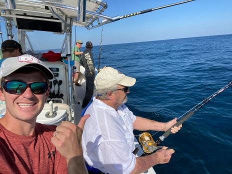 Dr. Lane Foil (LSU Entomology) on a nice tuna
