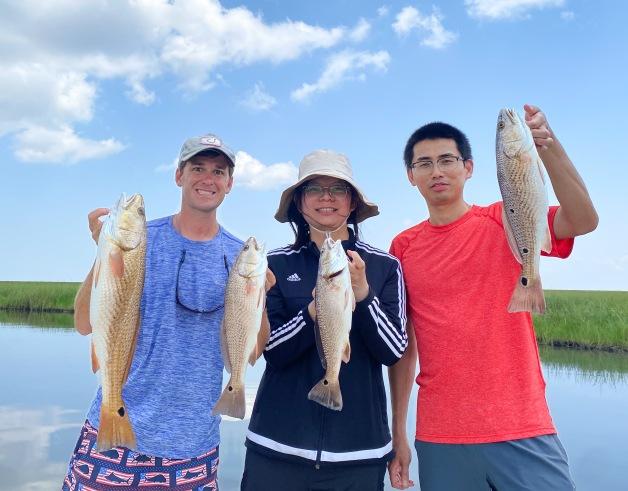 Lab trip to the Louisiana Marsh with Rui Chen and Zhilin Li